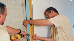 installing a basement wall finishing system in Elyria