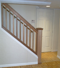 Renovated basement staircase in Lakewood