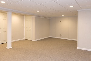 A complete finished basement system in a Strongsville home