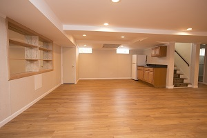 A beautiful, finished basement in Northeast Ohio