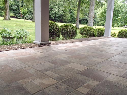 PolyLevel for Sunken Patio in Cleveland, Cuyahoga Falls, Akron