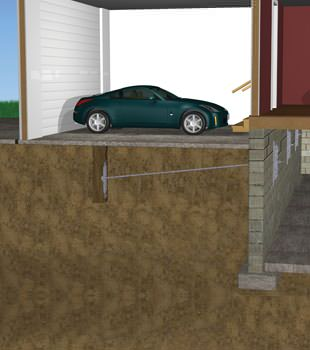 Graphic depiction of a street creep repair in a Willoughby home