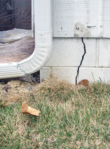 foundation wall cracks due to street creep in Solon