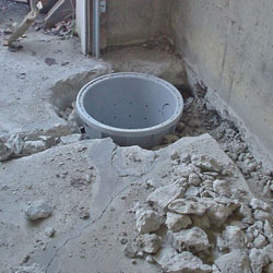 Placing a sump pit in a Westlake home