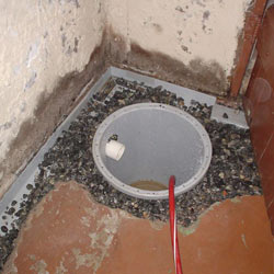 Installing a sump in a sump pump liner in a Akron home