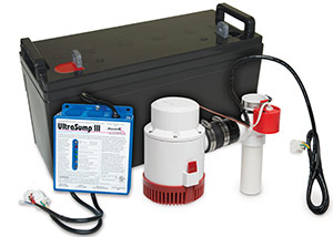 a battery backup sump pump system in Deerfield