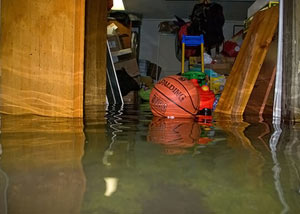 Flooded basement in Cuyahoga Falls